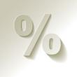 % Prozent weiss Papier