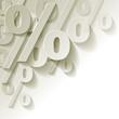 % Prozent weiss Papier Ecke Hintrergrund