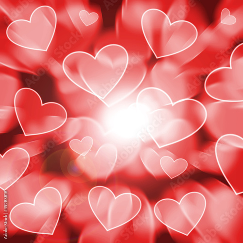 heart bokeh abstract background