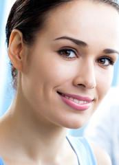 Close up portrait of beautiful woman
