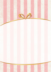 Vector sweet stripped background. White and pink. Cute wallpaper