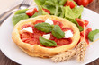 tomato, basil and mozzarella tart
