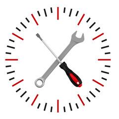 Время технического обслуживания и ремонта