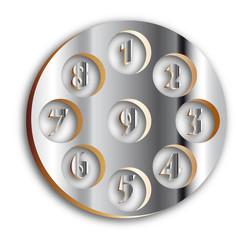 set numeri cromo