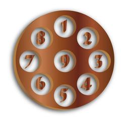 set numeri legno