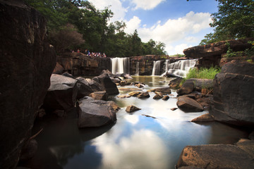Tatton paradise Waterfall located in deep forest of Thailand