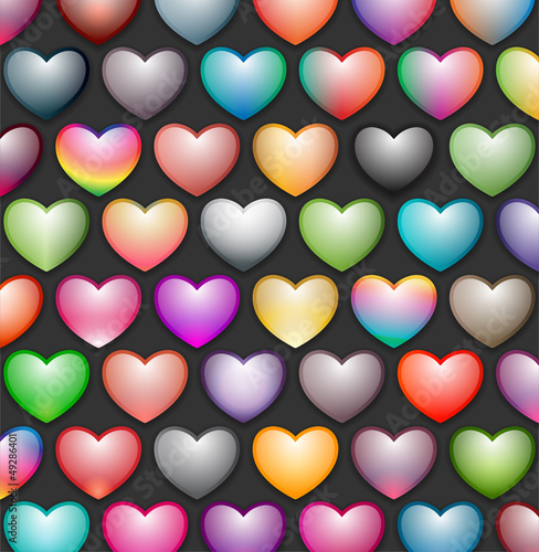 colorful hearts wallpaper, texture