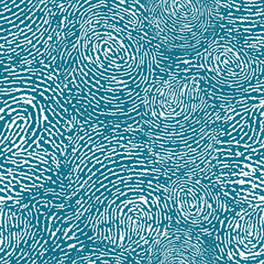 Vector finger print texture seamless pattern background