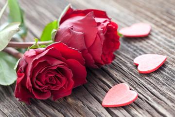 Rosen und Herzen