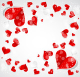 Abstract Love background with hearts valentine day card