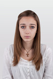 Portrait of a young teen girl - photo for the ID
