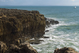 View of a cliff towards the sea - Cascais, Portugal