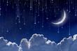 Moon in night sky