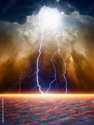 Dramatic moody sky - 49289444