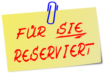 Reserviert post It Zettel  #130207-svg05