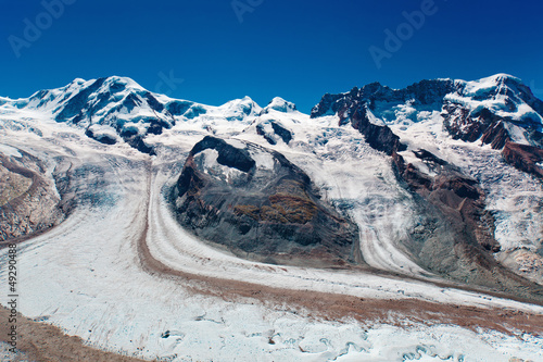 Mountains with glacier