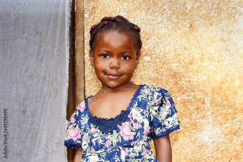 Fotobehang Overige Sweet little African girl
