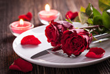 Tischgedeck zum Valentinstag