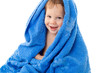 Funny little boy in towel