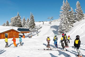 Départ cours de ski enfant