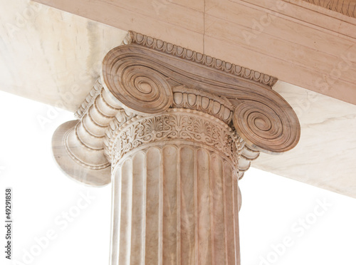 Capital of Greek neoclassical ionic column