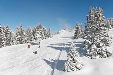 Neige en station de ski