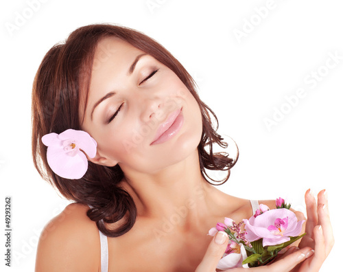 Woman enjoying dayspa