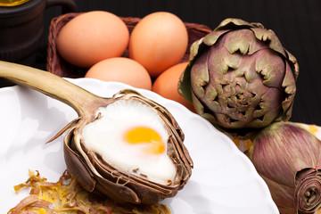 Creative Artichoke Eggs