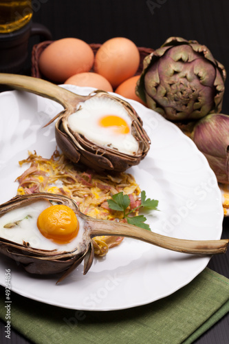 Easter Eggs In Artichokes