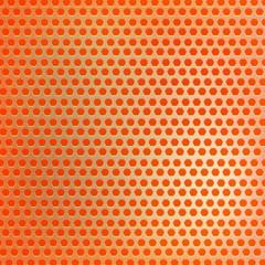 Retro orange hexagon dots background