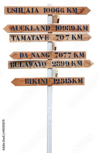 invitation au voyage, panneau indication direction