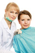 Portrait of a dental assistant smiling