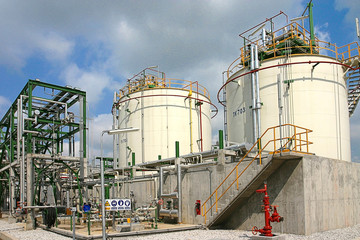 Polymer tanks in the industrial estate