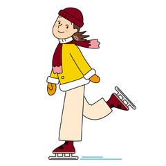 スケートの女の子