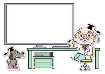 パソコンと博士