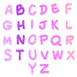 hand-drawn heart-shaped alphabet