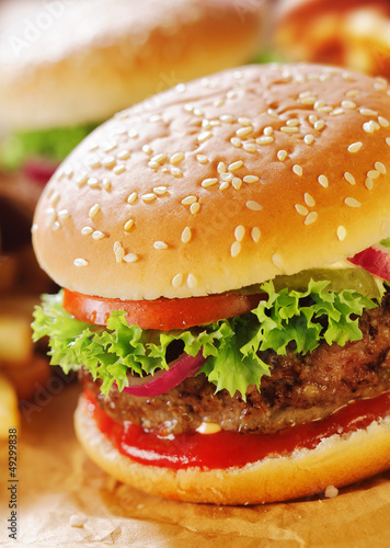 Close-up of hamburger