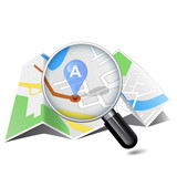 map & magnifying glass