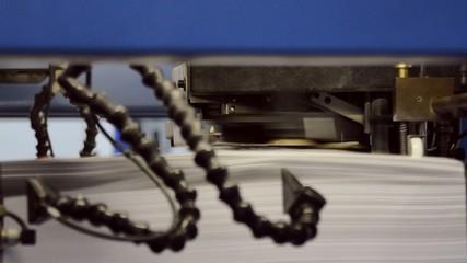Druckerei - Detailaufnahme Papiereinzug