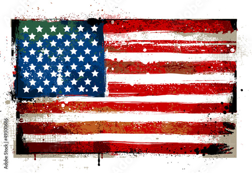 Grungy USA flag
