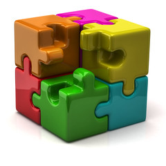 Illustration of puzzle cube