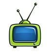 vintage tv set vector clipart vector illustration isolated