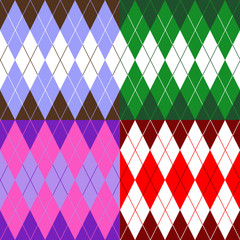 set of patterns wiyh rhombuses