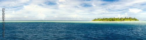 canvas print picture Insel Panorama