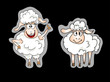 sheep stickers set