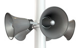 Horn Loudspeakers On A Pole