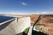 Leinwanddruck Bild - the Glen Dam and bridge in Page