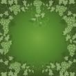 wein,weinblatt, weintraube, rahmen, deko, floral, muster, vektor