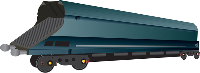 A Large Railway Coal Hopper Wagon