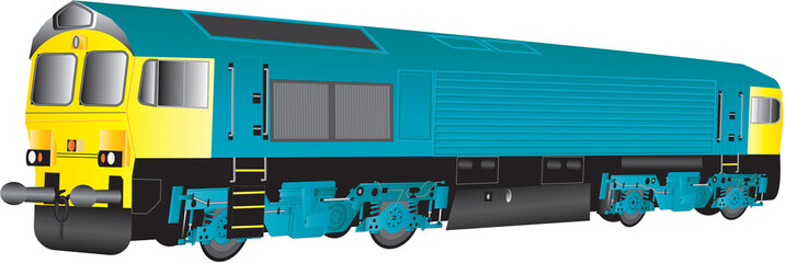 A Large Blue and Yellow Diesel Railway Locomotive